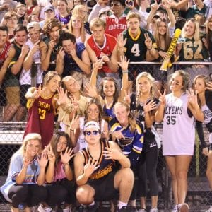 The crowd cheering on Lindbergh's win against Ritenour last week. Photo by Jessica Belle Kramer.