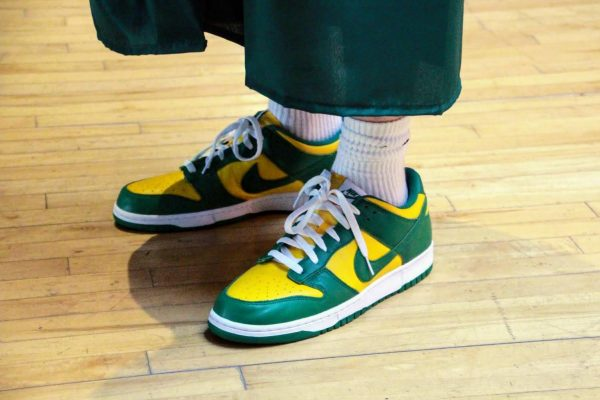 Green and Gold-themed kicks seen at the Lindbergh High School Class of 2020