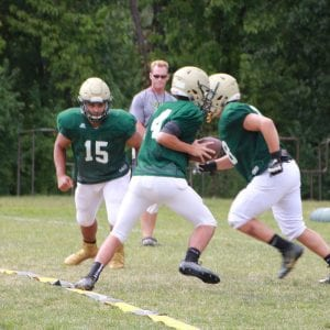 The Lindbergh Football Flyers scrimmage in advance of their win in September 2017.