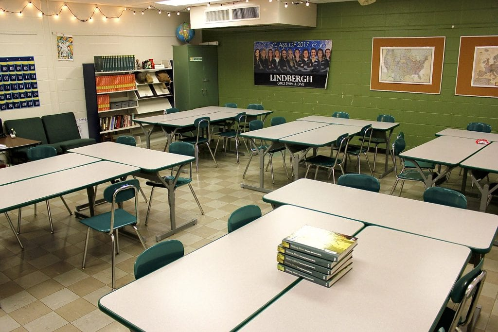 Pictured above: One of the classrooms at Lindbergh High School. Most of the buildings at LHS date back to the 1950s and 1960s. Photo by Erin Achenbach.