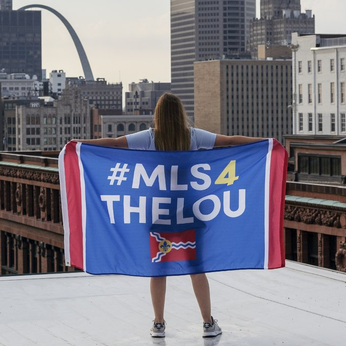 The #MLS4TheLou ownership group posted this image to Twitter just before the expected announcement of the St. Louis team.