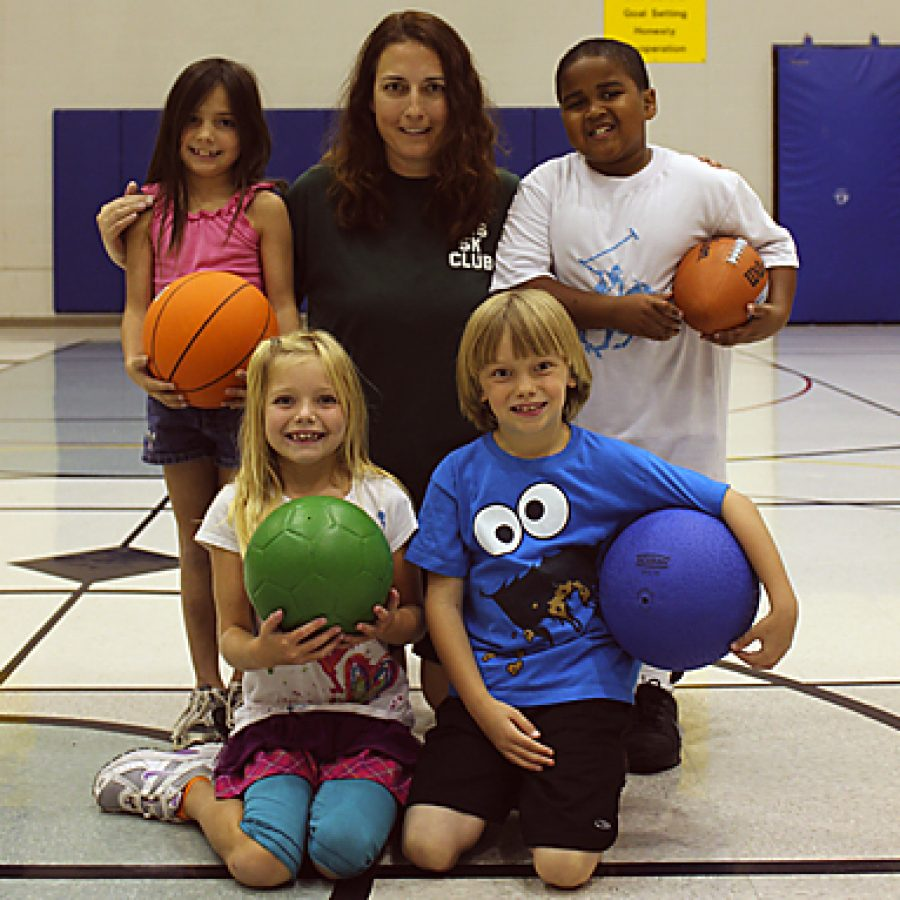 Sappington Elementary School teacher Mary Driemeyer, shown here with her second grade students, was recently named 2011 St. Louis Elementary Physical Education Teacher of the Year by the Missouri Association for Health, Physical Education, Recreation and Dance.