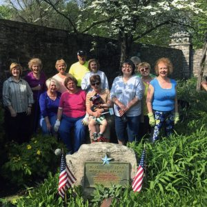 Garden club installs Blue Star marker
