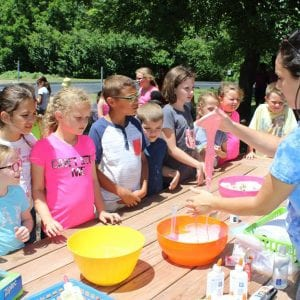 Students in the Summer Acceleration program held in June 2017 at Blades Elementary in Oakville learn how to make slime.