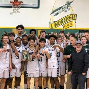 Mehlville basketball scores a district championship