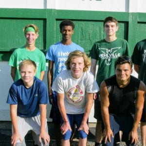 Mehlville High head coach Mark Ehlen hopes the runners on his boys' team can improve this year, then continuously build on that success in future years. Photo by Bill Milligan.