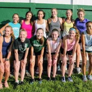 The  Mehlville High girls' cross country squad has already shown up this year, and they hope for some sectional qualifiers, head coach Mark Ehlen. Photo by Bill Milligan.
