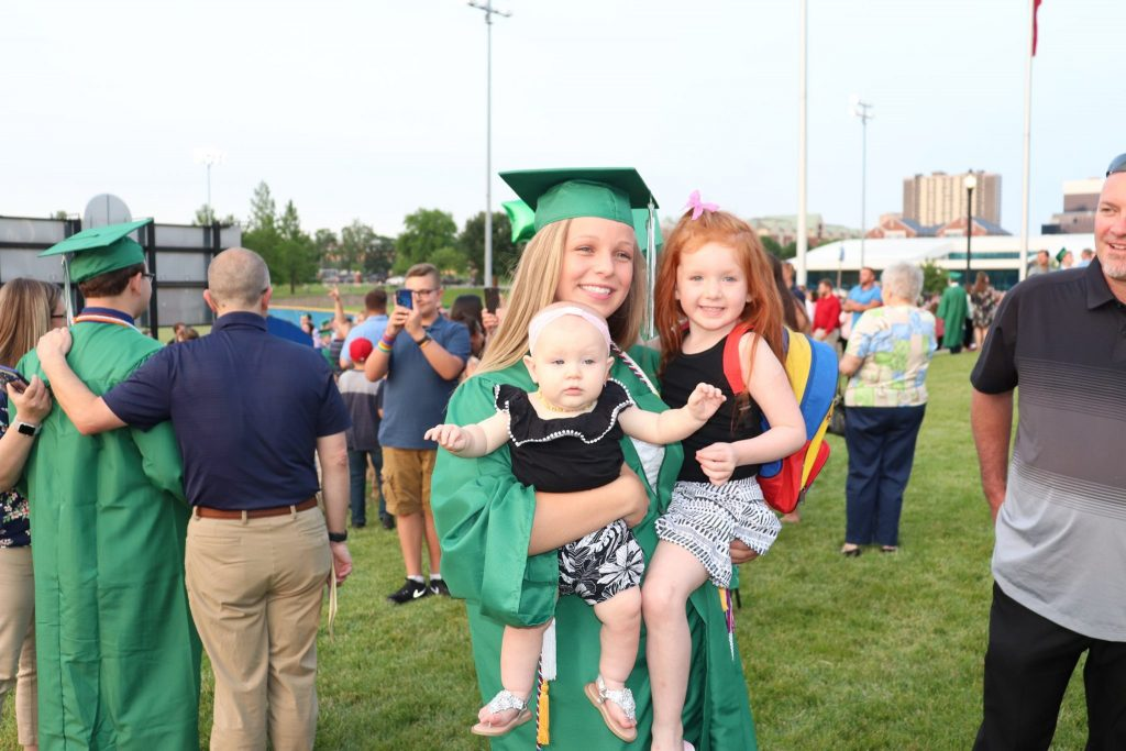 Mehlville+class+of+2019+graduate+Sydney+Gruber+with+her+family+after+the+ceremony.