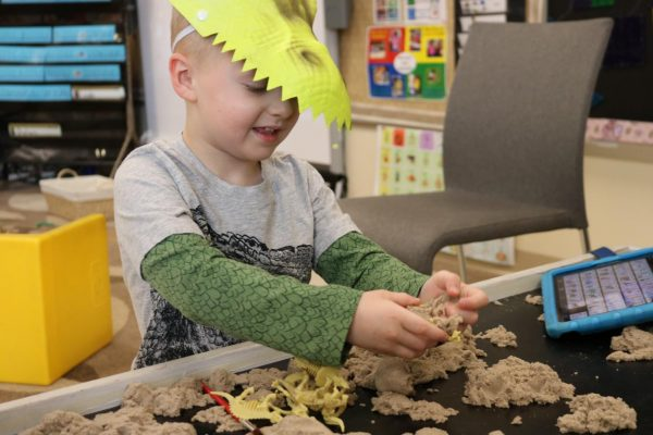 A look back a year ago, pre-pandemic: John Cary student digs dinosaur