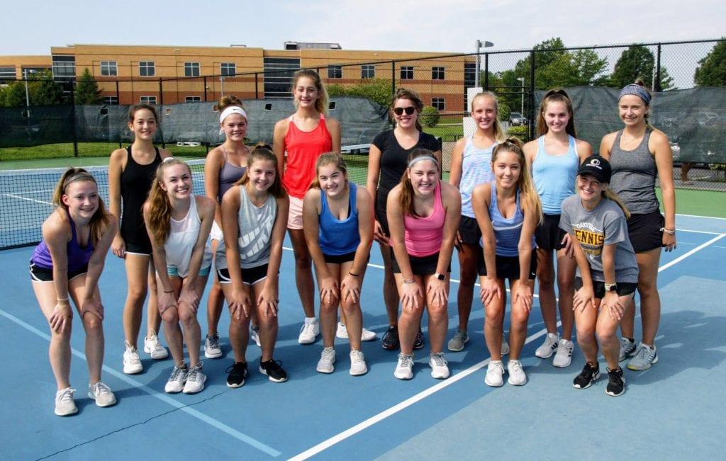 Oakville+High+School+head+coach+Bill+Ebert+believes+his+varsity+girls%E2%80%99+tennis+team+could+make+it+to+sectionals+this+year.+Photo+by+Bill+Milligan.