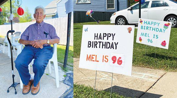 PHOTOS: Neighborhood children celebrate 96-year-old local resident's birthday