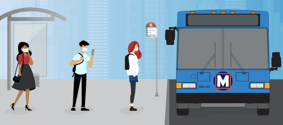 Metro+Transit+released+this+graphic+of+passengers+wearing+masks+ahead+of+the+requirement+that+went+into+effect+Monday%2C+May+11.