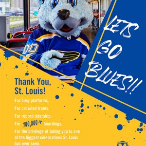 Metro had record ridership for Blues Stanley Cup parade, with no security incidents