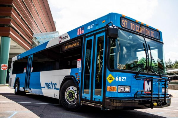 Metro Transit is rolling out a new design for buses, as seen above, which will be slowly rolled out across the fleet as buses come in for maintenance.