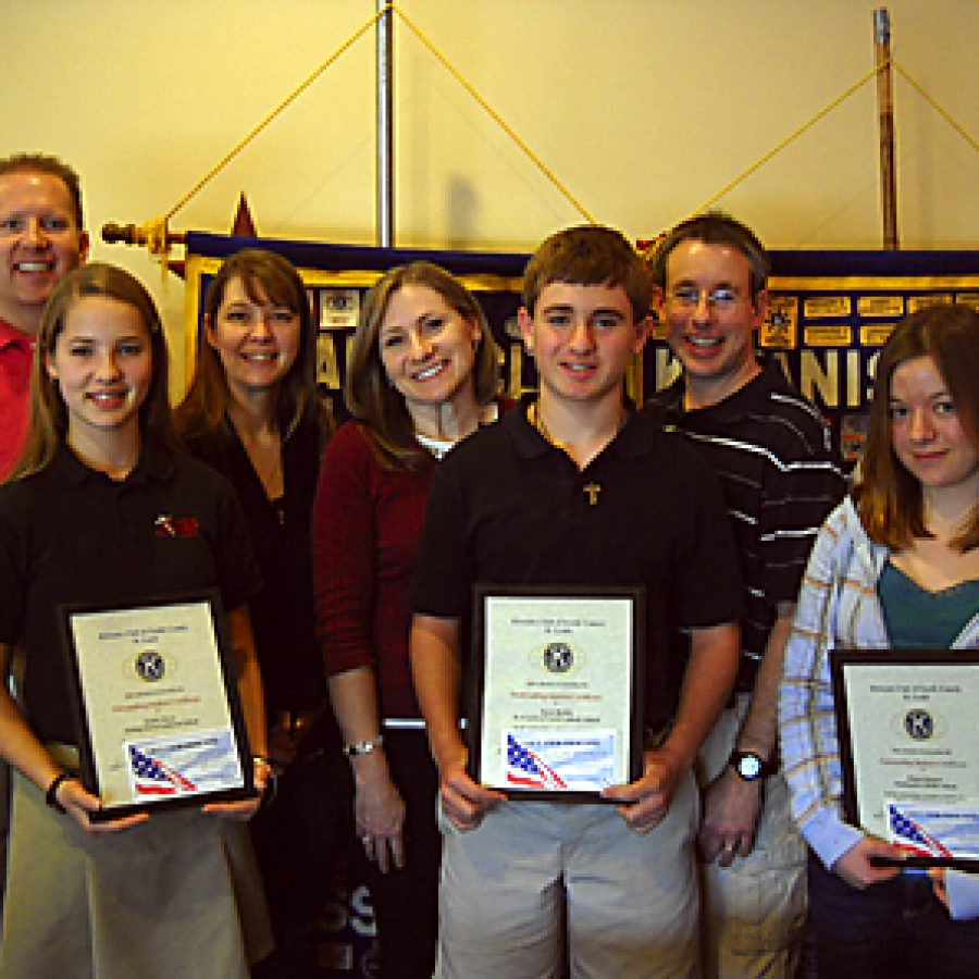 Kiwanis Club honors Outstanding Students