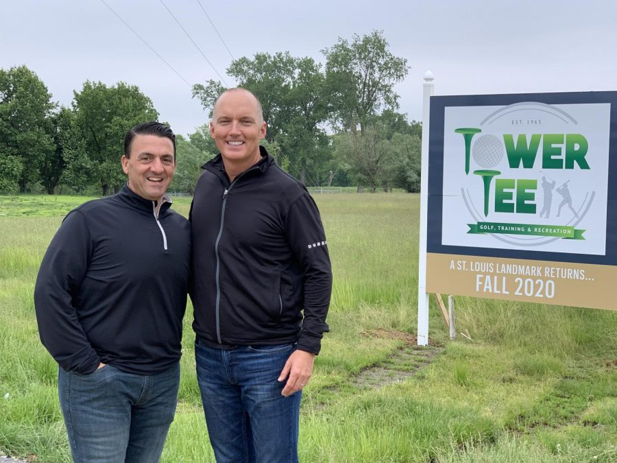 Mike Shamia, left, and Steve Walkenbach. at the Tower Tee property.