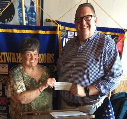 Kiwanis presents check to Miriam Foundation