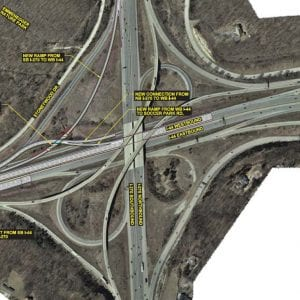 The planned Meramec River Bridge replacement.