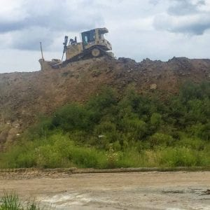 After: Bulldozers started bringing down Mount Crestwood Sept. 6, pictured above. Photo by Gloria Lloyd.