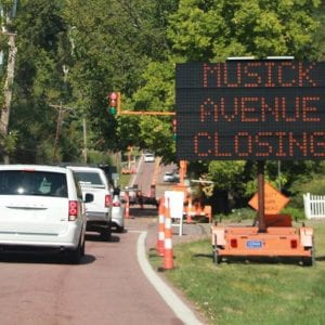 Cable delays Musick Road's construction