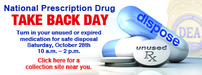 Drop off prescription drugs this weekend at local police stations