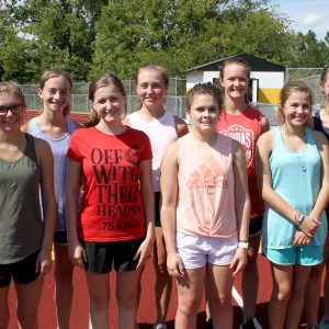 New Oakville girls cross country head coach Kelsey Tunze started a running program at Cliff Cave County Park, and has 10 girls on the team this year.