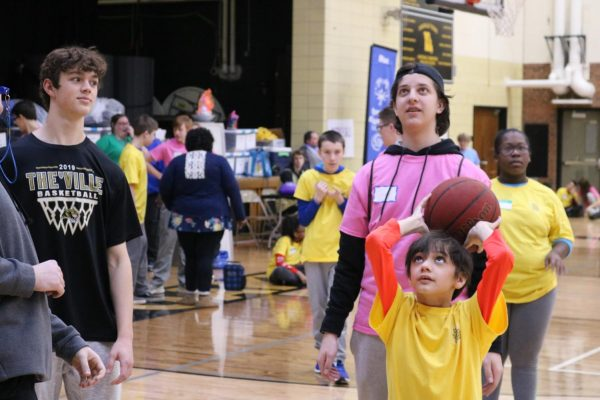 Shown above, Oakville High School hosted the Special School District and Special Olympics basketball in February 2020, some of the students