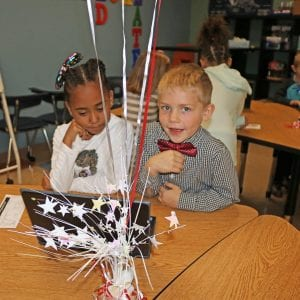 Students at Oakville Elementary participate in