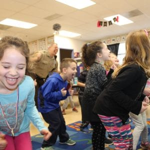 Oakville Elementary kindergarteners do the