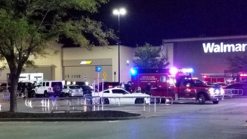Police+and+the+Mehlville+Fire+Protection+District+respond+to+the+scene+of+a+shooting+at+the+Oakville+Walmart+Thursday+night.+Photo+by+Jason+Allen+Krause.