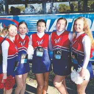 Oakville cheerleaders perform at Citrus Bowl