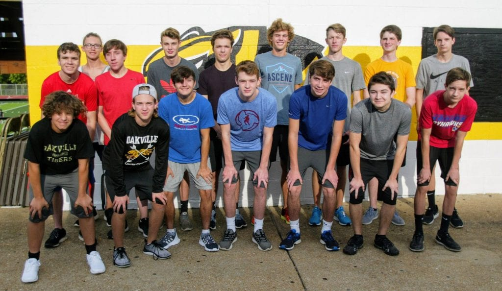 High+numbers+of+boys+turning+out+for+the+Oakville+Tigers+boys%E2%80%99+cross+country+team+is+a+good+thing+for+the+team%E2%80%99s+competition%2C+Coach+Kevin+Niedringhaus+says.+Photo+by+bill+Milligan.