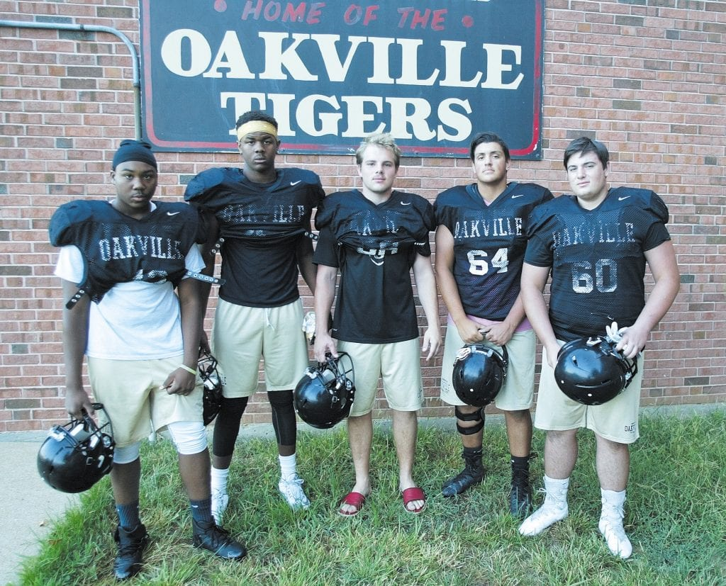 The+Oakville+High+School+varsity+football+team+was+victorious+Friday+night%2C+defeating+Seckman+28-7.+The+Tigers%2C+now+3-5+on+the+season%2C+will+host+1-7+Mehlville+Friday+night.+Photo+by+Bill+Milligan.
