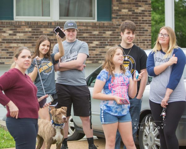 Oakville High graduates and their families celebrated the Class of 2020's achievements with a drive-by graduation parade in May. Officials still hold out hope that despite the coronavirus pandemic, in-person graduation ceremonies can be held later this summer. Photo by Kim Brady Photography.