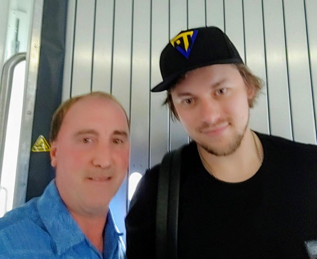 Oakville resident Keith Skidmore was on a flight to Miami when he spotted Blues player Vladimir Tarasenko and snapped this selfie.