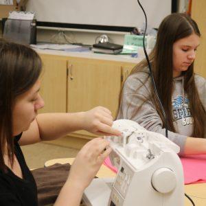 Students keep Australian animals 'sew' warm
