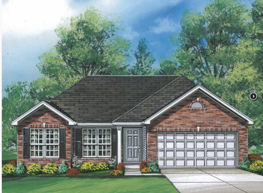 A rendering of a home model in the proposed development.