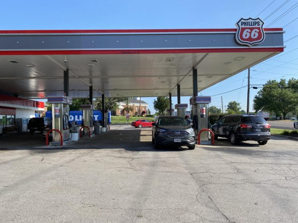 The parking lot of the Phillips 66 gas station in Affton had returned to normal Friday, July 24, following a shooting Thursday.