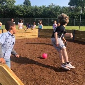 Boy Scouts build Blades a new gaga-ball pit