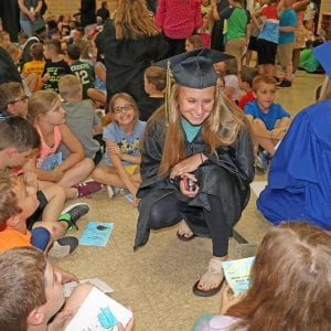 Point Elementary grads return to their old elementary school.