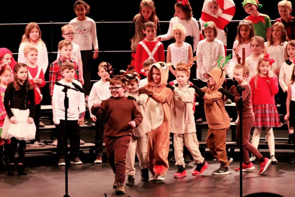 Rogers Elementary students perform at their winter concert in December 2019.