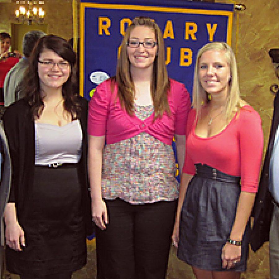 Rotary Club presents scholarships