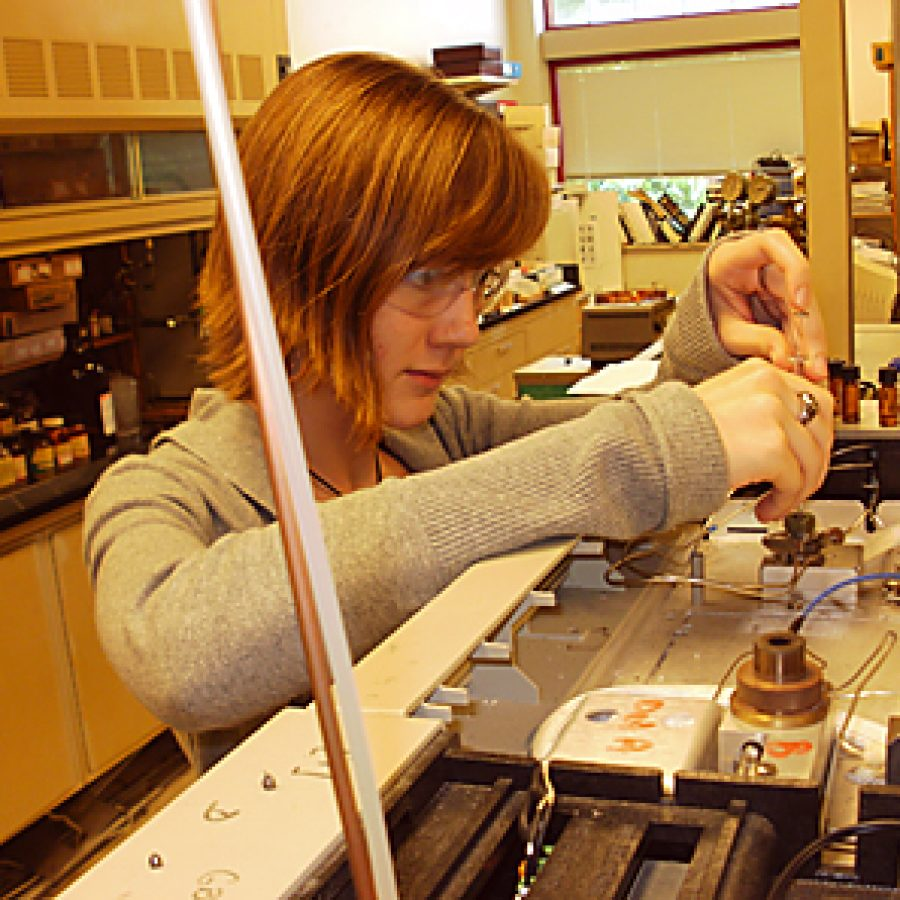 Lindbergh High School senior Rachel Maxwell recently was honored for her exceptional achievements during the 2011 Students and Teachers as Research Scientists, or STARS, program at University of Missouri-St. Louis.