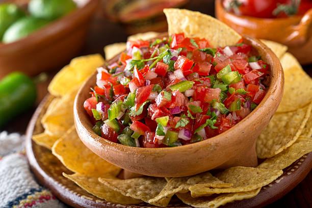 A+delicious+home+made+salsa+pico+de+gallo+with+tomato%2C+red+onion%2C+lime%2C+cilantro%2C+and+jalapeno+pepper.