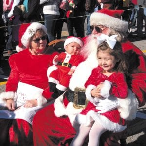 Santa arrives in south county