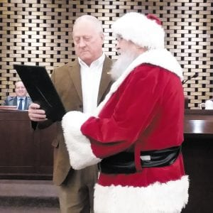 Crestwood officials honor 'Santa Ted'