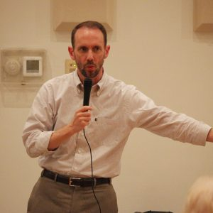 Sen. Scott Sifton, D-Affton, speaks at the Oakville Democrats' ODO Fest in October 2018. Photo by Erin Achenbach.