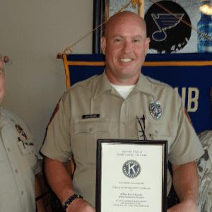 Kiwanis Club honors Officer Schroeder
