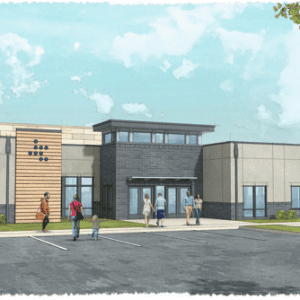 Artist's rendering of the proposed Jubilee Church. Image courtesy of Sunset Hills Board of Aldermen and Jubilee Church.