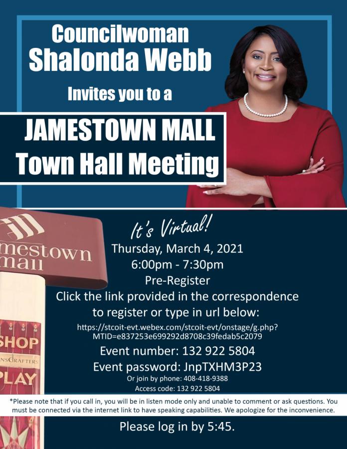 Town+hall+on+Jamestown+Mall+set+for+tonight